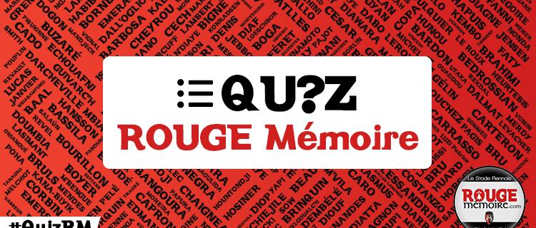 Les QUIZ ROUGE Mémoire